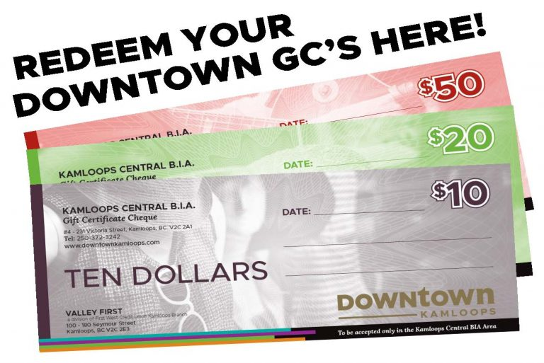 Downtown Kamloops Gift Certificates
